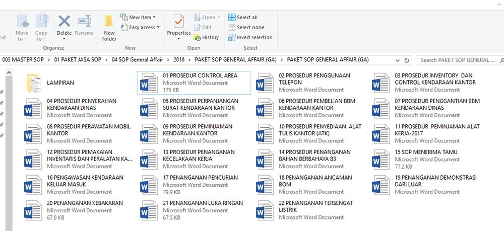 Contoh Sop General Affairs Download Now Update 2021