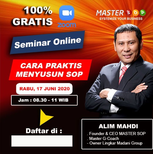 Pamflet Webinar Master SOP Sharing