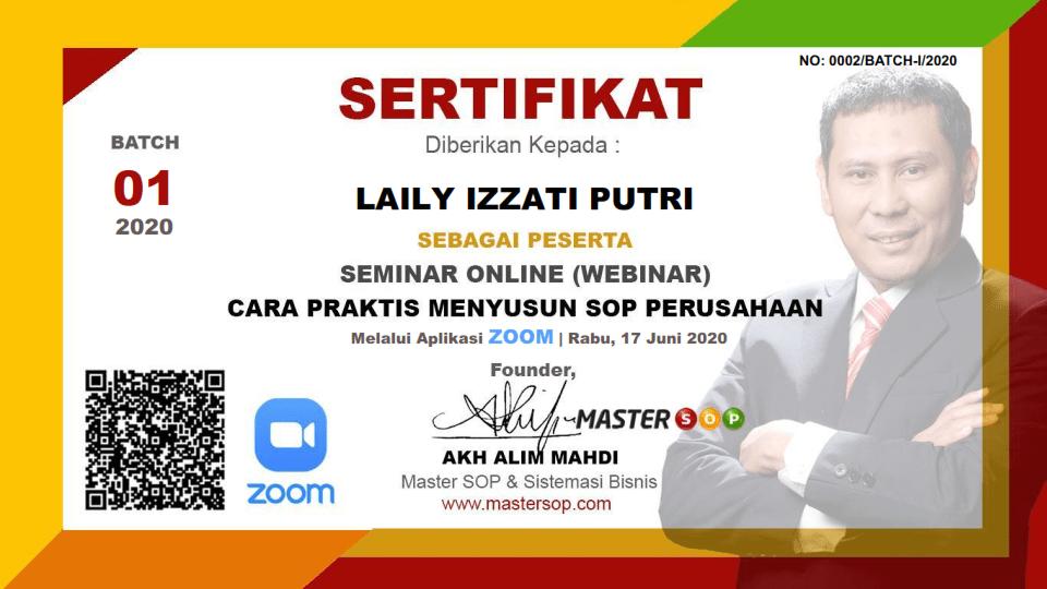 SERTIFIKAT WEBIMAR MASTER SOP
